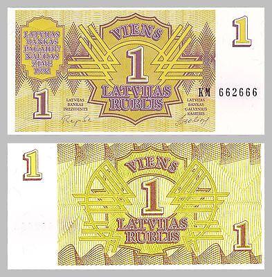 Lettland / Latvia 1 Rublis 1992 p35 unz.