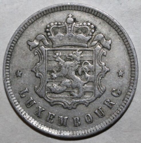 Grand Duchy of Luxembourg 25 Centimes Coin 1927 KM# 37 Charlotte Twenty-Five