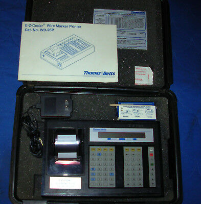 Thomas Betts E-z-coder Wd-25p Wire Marker Printer With Power Supply Manual