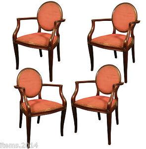 4 fauteuils 1930 acajou a restaurer ebay. Black Bedroom Furniture Sets. Home Design Ideas
