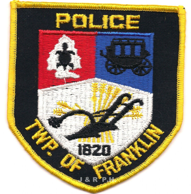 """Twp. of Franklin - 1820, NJ  (3.75"""" x 4.5"""" size)   shoulder police patch (fire)"""