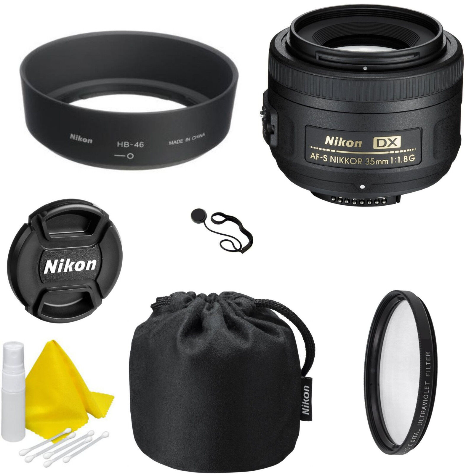 Nikon AF-S DX NIKKOR 35mm f/1.8G Lens - CellTime Kit