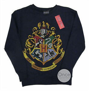 primark officiel harry potter poudlard cimier logo sweatshirt pull bleu marine ebay. Black Bedroom Furniture Sets. Home Design Ideas