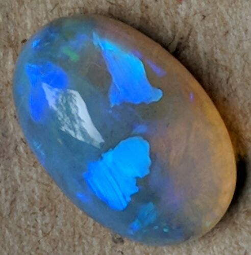 HIGH DOME 5.4ct Crystal Opal BLUE GREEN Oval Lightning Ridge