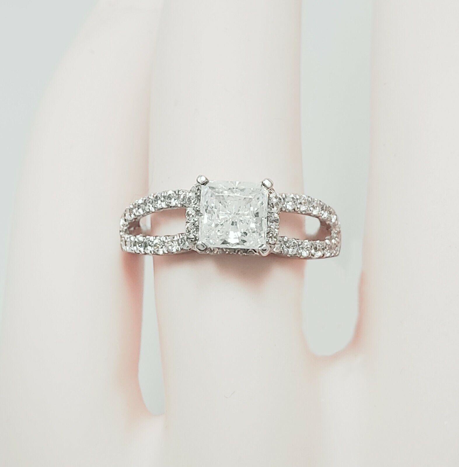 GIA Certified Diamond Engagement Ring 2.22 carat Cushion Shape 14K Gold  1
