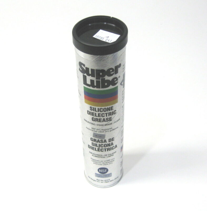 Super Lube 91015 Silicone Dielectric Grease 400G Cartridge Food Grade Clear