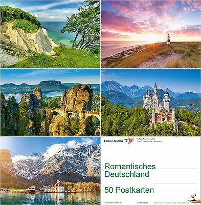 """""""ROMANTISCHE LANDSCHAFTEN"""" Postkarten-Set 50 St. Ansichtskarten für Postcrossing"""