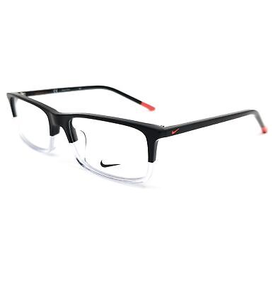 NIKE Eyeglasses 7252 017 Black-Clear Rectangle Unisex 55x17x145