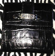 Brighton Black Croc Wallet