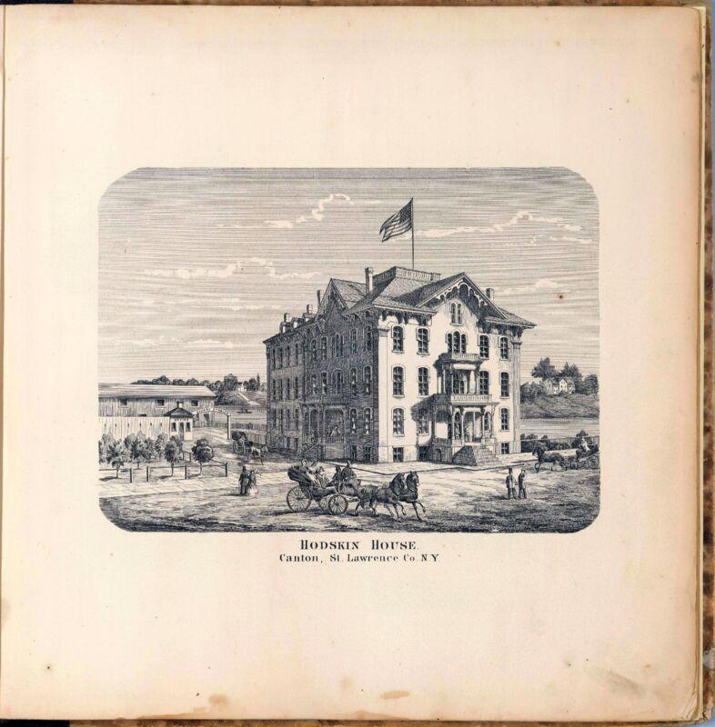 1865 SAINT LAWRENCE maps NEW YORK old plats GENEALOGY LAND OWNERSHIP DVD P31