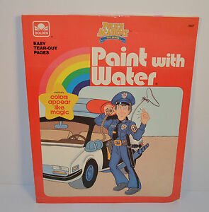 Vintage 1989 Police Academy 10 X 8 Paint With Water Paint With Water Coloring Books