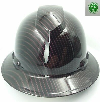 New Custom Pyramexfull Brim Hard Hat Candy Black Cherry Plum Crazy New