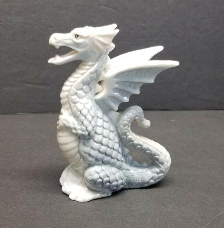 "Vintage Japanese Yoshimi K Porcelain Dragon Figurine Made in Japan 4 3/4"""