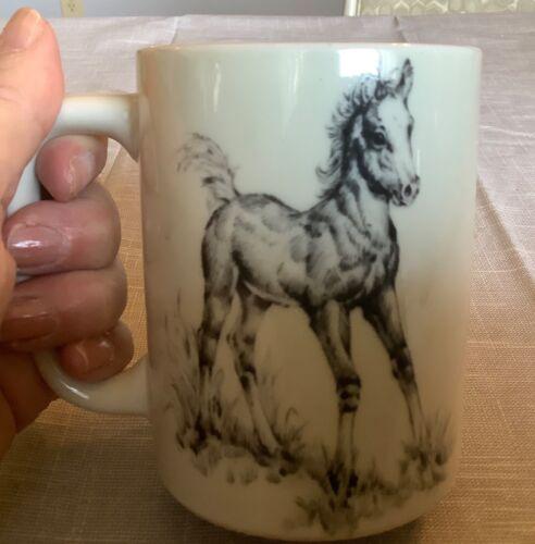 Vintage Otagiri Horse Foal Colt Equine Ceramic Mug Japan