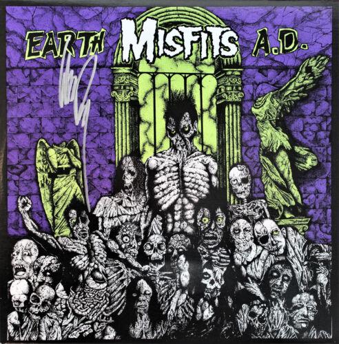 THE MISFITS Vinyl Record SIGNED GLENN DANZING, Earth AD