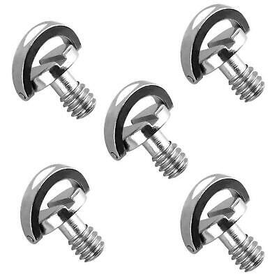 """(5 Packs)Stainless Steel D Shaft D-Ring 1/4"""" Tripod Screw Mounting Screw Adapter"""