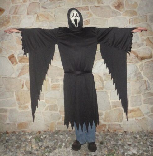 SCREAM Movie Ghostface Mask & Costume EASTER UNLIMITED FUN WORLD DIV. Adult Size
