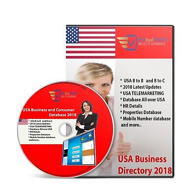 Usa Billion Database Email Marketing List 3 Dvd File Email Delivery