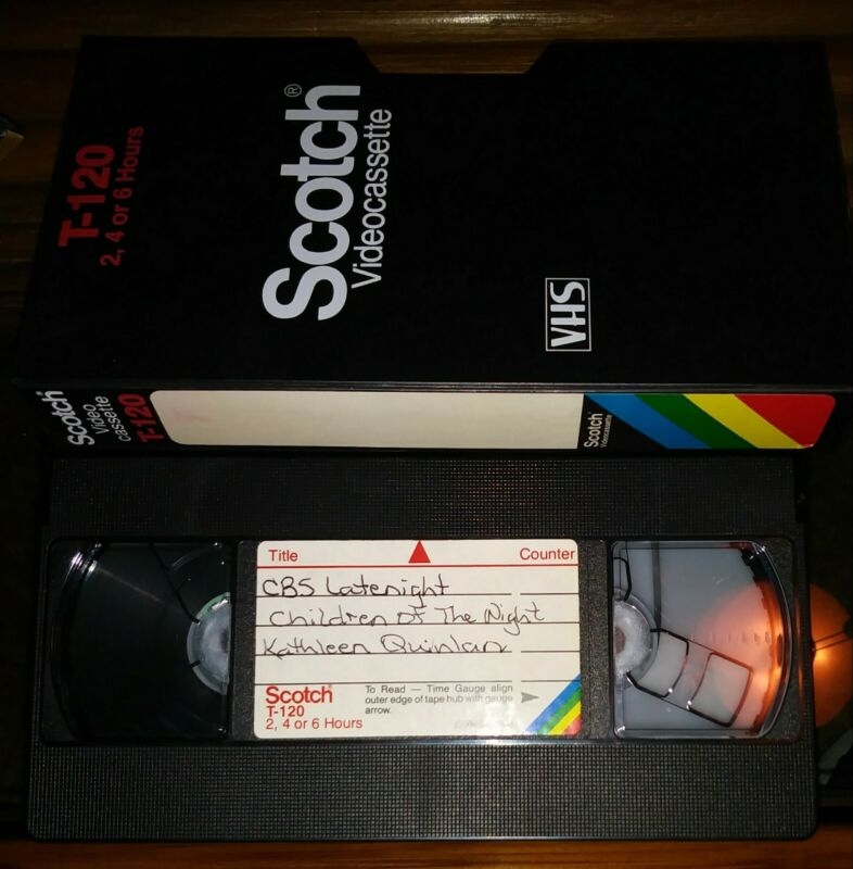 #6 Used Blank VHS T120 Scotch 1980