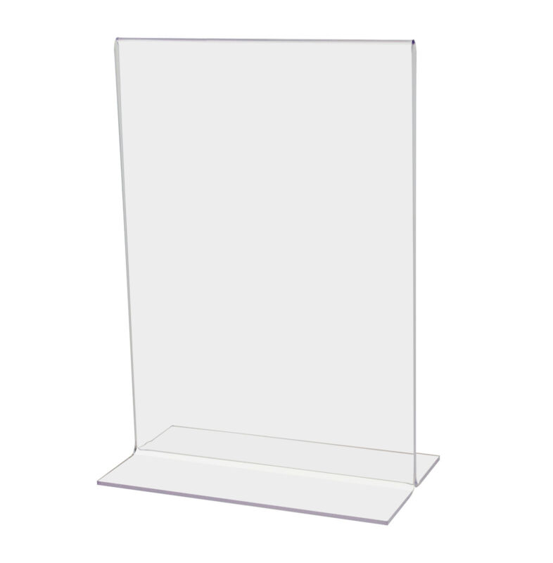 """5.5""""W x 8.5""""H Double-sided, Bottom Loading Table Sign Holder (Lot of 6)"""