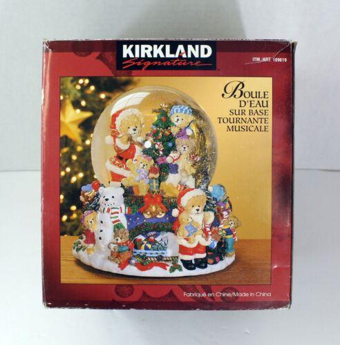 Kirkland Musical Water Snow Globe #109619 Revolving Base Christmas Works w/ Box