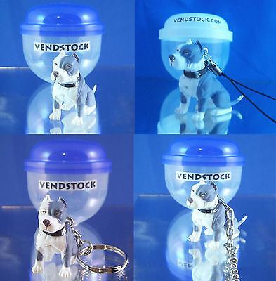 PIT BULL TERRIER BLUE #3 HOOD HOUNDS DOG FIGURE DANGLER KEYCHAIN LIGHT LAMP PULL