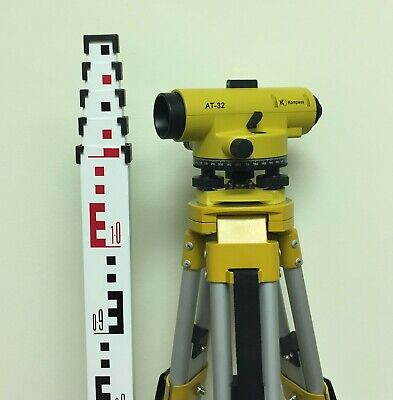Brand New At32 Automatic Level Package Including 5m Rod Aluminum Tripod