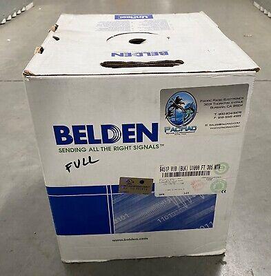 Belden 9451p 010 Multi Conductor Single-pair Plenum 22 Awg Cable 1000 Ft - Black