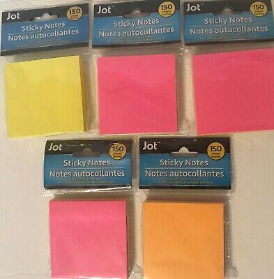 Jot Sticky Notes 150 Sheets- Lot Of 5