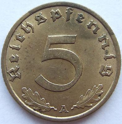TOP! 5 Pf 1936 A in VORZÜGLICH / STEMPELGLANZ SELTEN !!!