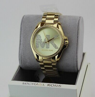 NEW AUTHENTIC MICHAEL KORS BRADSHAW RUNWAY GOLD CHRONOGRAPH WOMEN'S MK6555 WATCH
