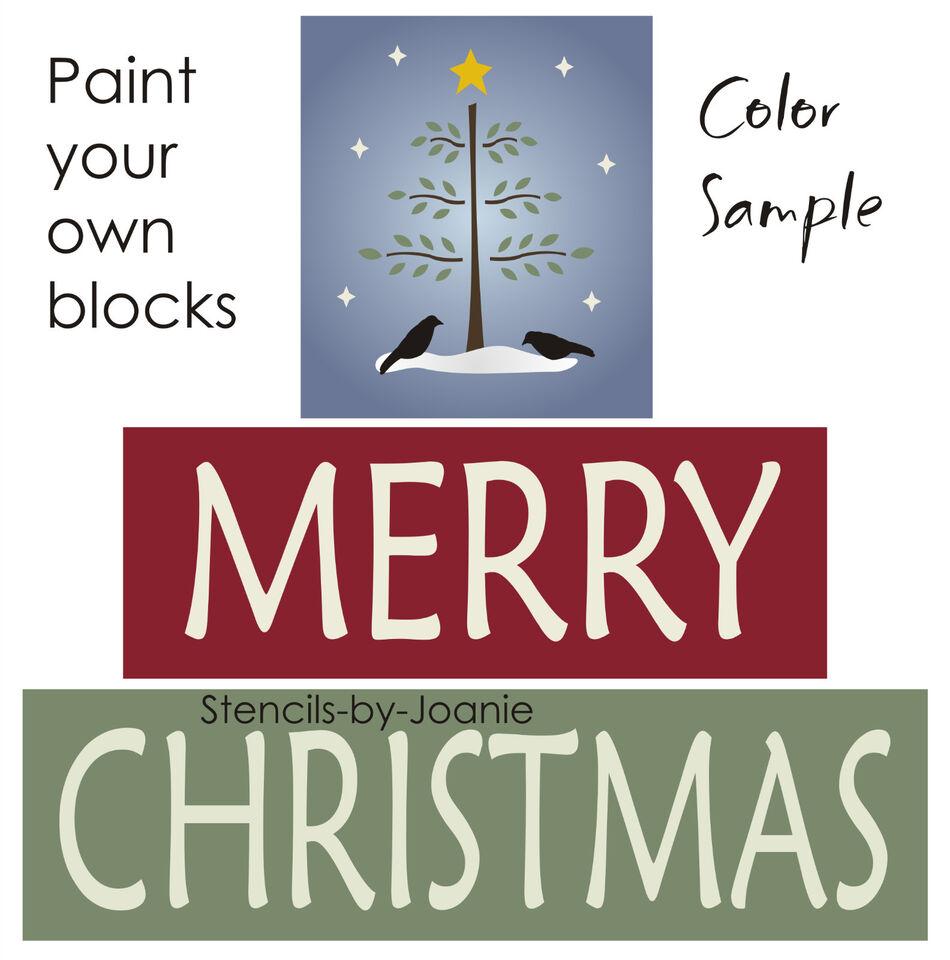 Pine Tree Stencil Winter stencil merry christmas