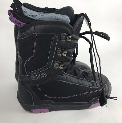 Sims Womens Omen Snowboard Boots Purple And Black Size 7