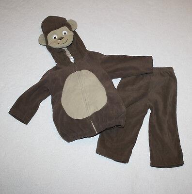 Toddler  Baby Girl Boy Carters Brown Monkey Halloween Costume Size 12 - Baby Girl Monkey Costume