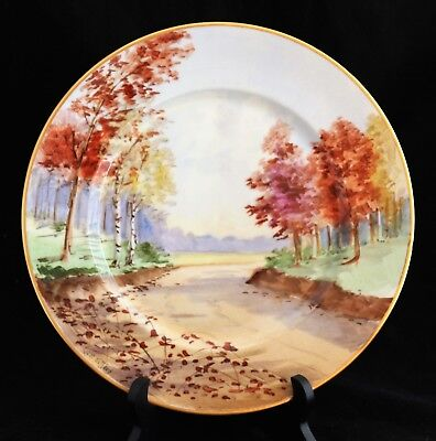 STOUFFER STUDIO HAND PAINTED SCENE PICKARD ARTIST N.R.Gifford CHARGER PLATE 2of6