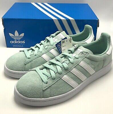 Adidas Men Originals Campus Nubuck Ash Green White Sneakers DB0982 Size 7.5 - 12 Adidas Campus Sneakers