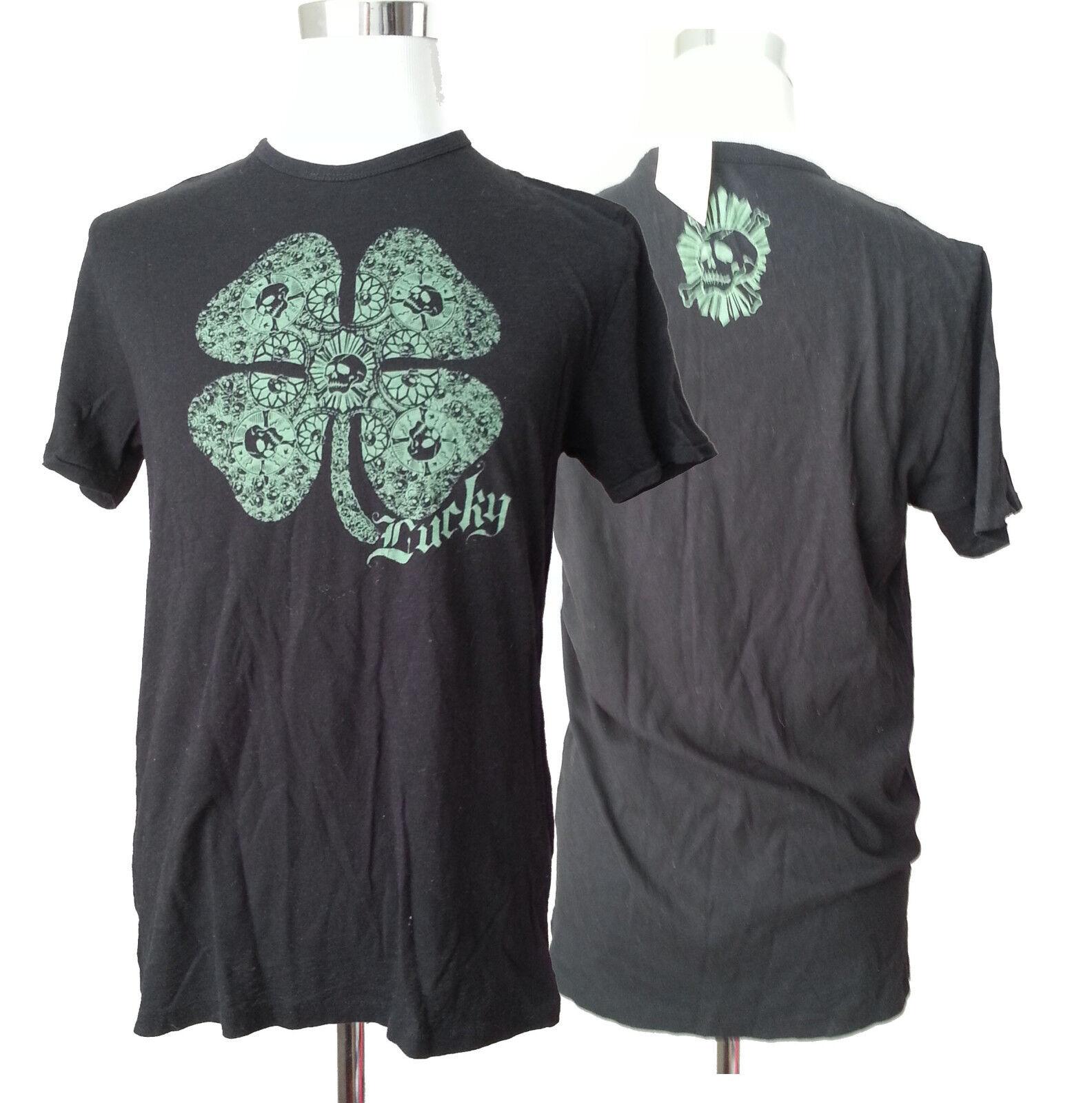 Shamrock Green Lucky Brand Men/'s Short Sleeve Graphic Tee Shirt Size XL
