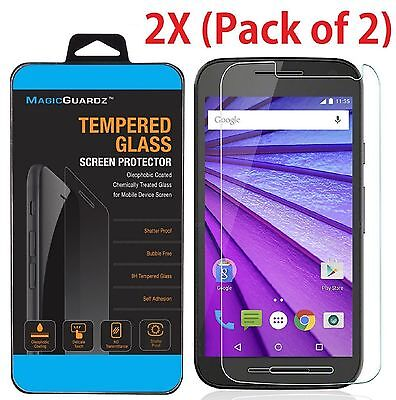 3rd Gen Screen Protector (Premium Real Tempered Glass Screen Protector For Motorola Moto G 3 3rd Gen)