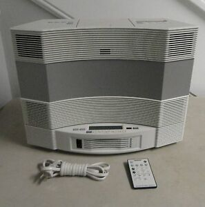 bose acoustic wave music system ii with 5 cd changer white ebay. Black Bedroom Furniture Sets. Home Design Ideas