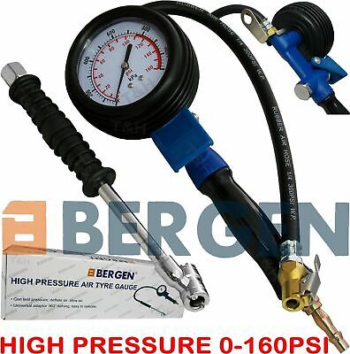BERGEN Professional Tyre Inflator With Gauge Air Line Tyre Pump High PressureHGV