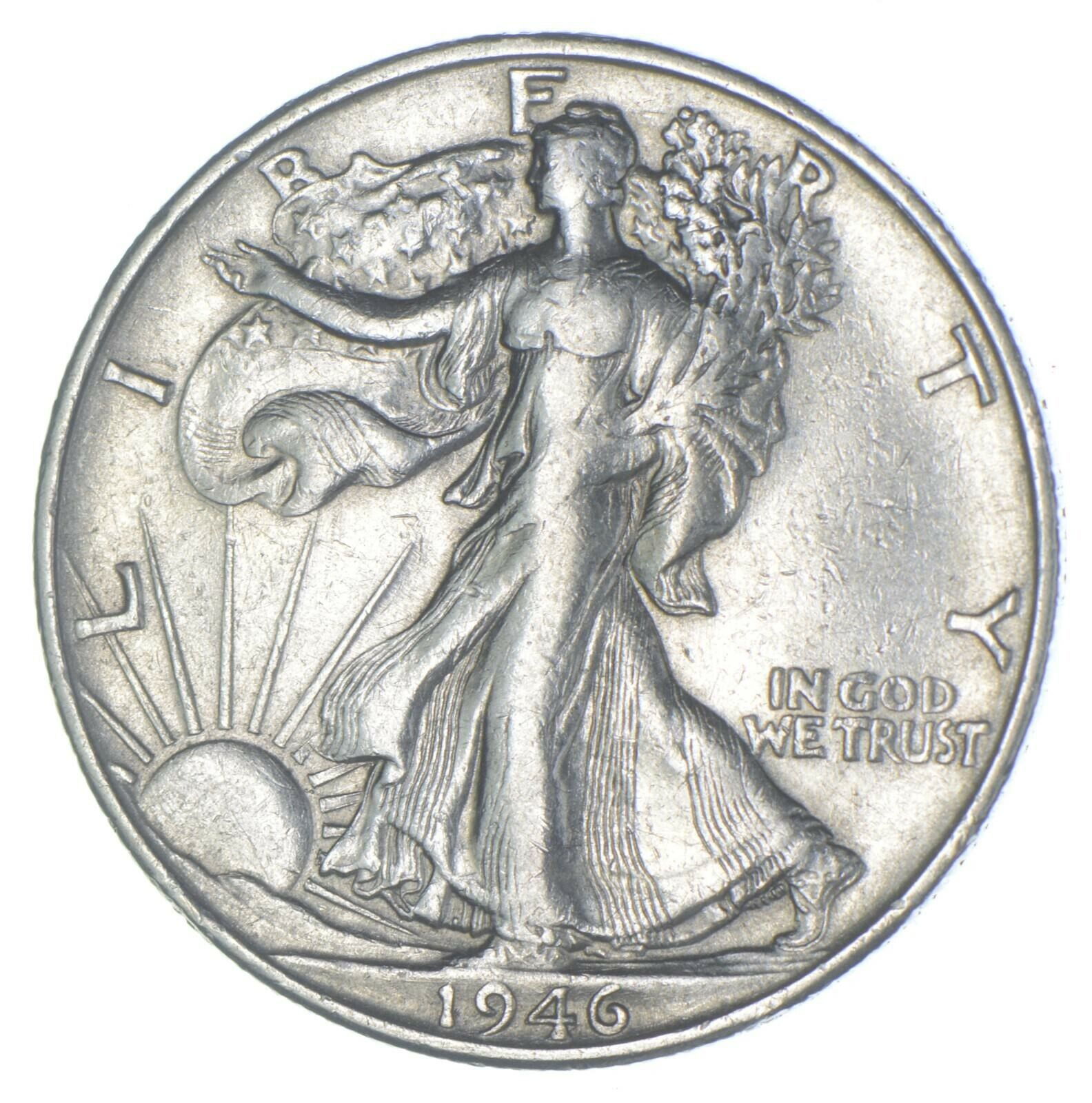 AU/Unc - 1946-S Walking Liberty Silver Half Dollar - Better 220 - $16.50