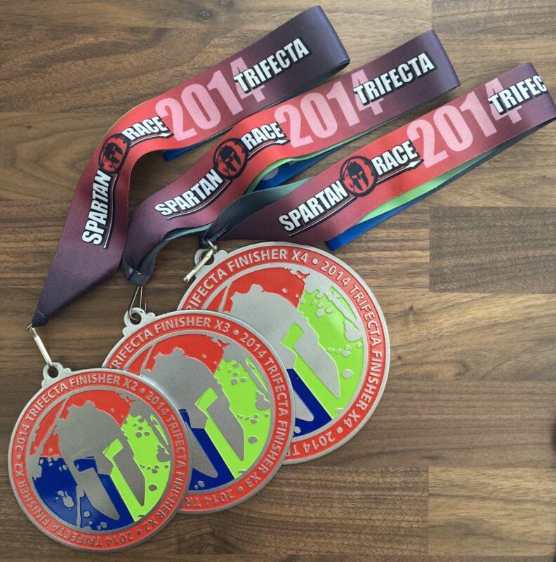 Spartan Race 2014 Trifecta Medals - x2 x3 x4
