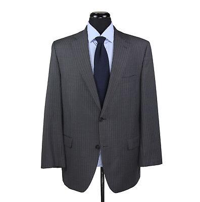 Jack Victor Super 100's Wool 2-Button Suit Gray w/gray Stripes Men's Size 42L