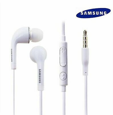 AUTHENTIC SAMSUNG HANDS-FREE HEADSET OEM 3.5MM EARPHONES EARBUDS EARPIECES - Earphones Earpieces