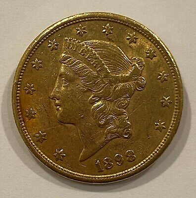 1898-S Liberty Head Double Eagle G$20 Gold Coin $20  Liberty Head Double Eagle