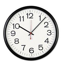 Universal Indoor/Outdoor Clock, 13 1/2-Inch, Black (11381) Analog Wall Clock