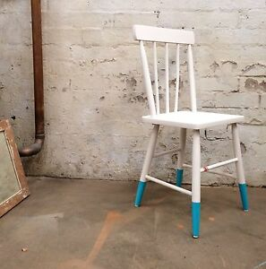 White vintage chair Balmain Leichhardt Area Preview