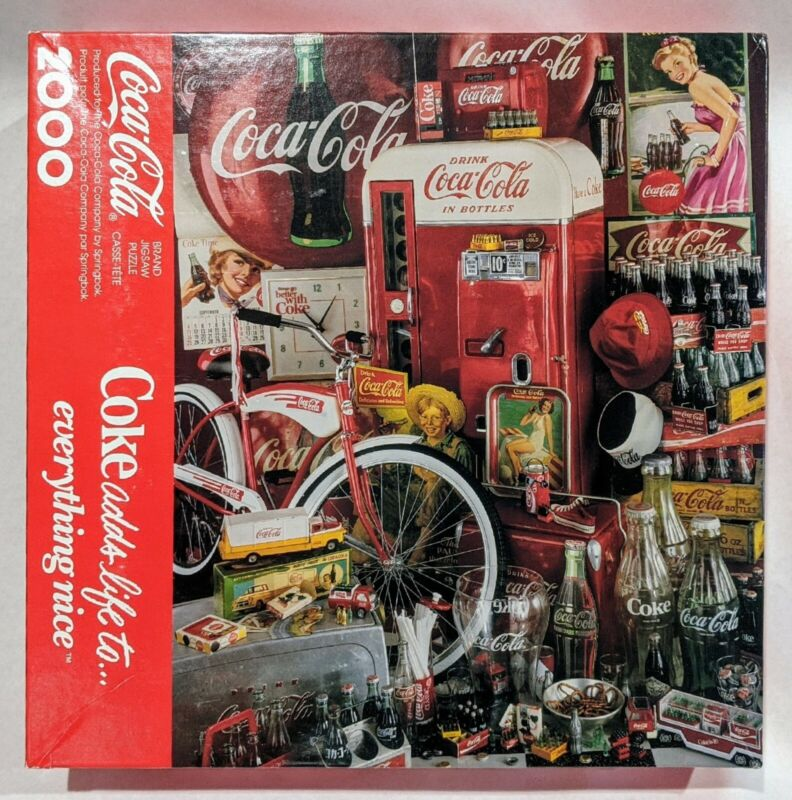 Sprinbok Coca-Cola® Jigsaw Puzzle 2000 Pieces Coke Adds Life To Everything Nice!
