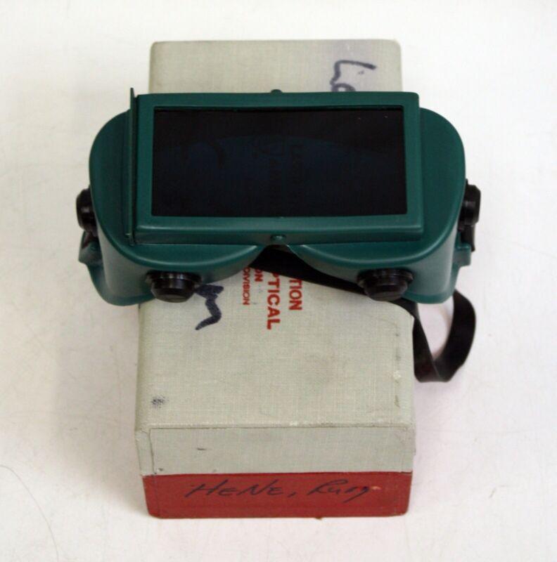 American Optical Laser Eye Protection Goggles Ruby 694nm, 6.1OD HeNe 633 4.1, AO