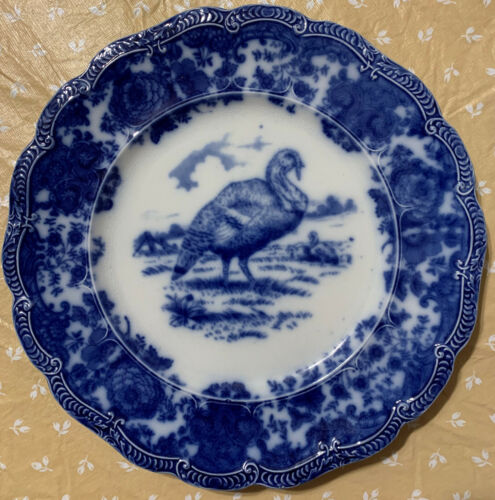 Ridgways Flow Blue Turkey Dinner Plate (Up to 5 for first buyer)